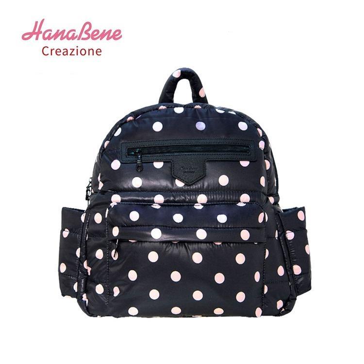【虎兒寶】Hana Bene 花花班尼 極輕感 中後背 13格層防潑水空氣包-2件組-粉紅點點