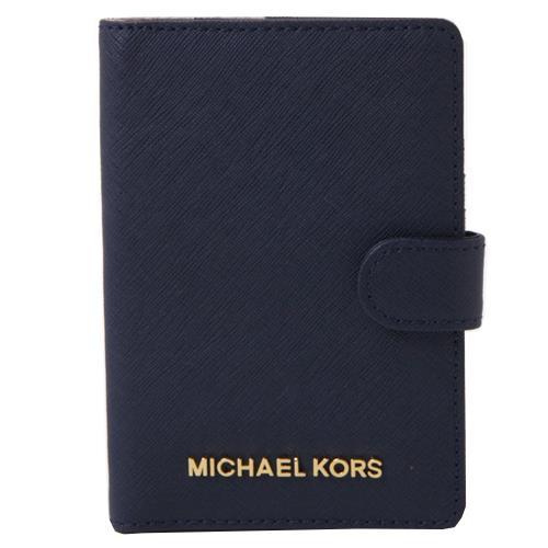 MICHAEL KORS 防刮證件護照夾-深藍(現貨+預購)