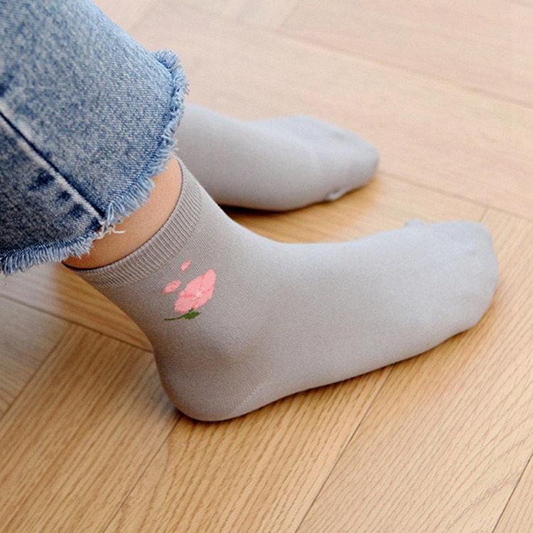 韓國GRACEBELL-女生的中筒襪02.灰色
