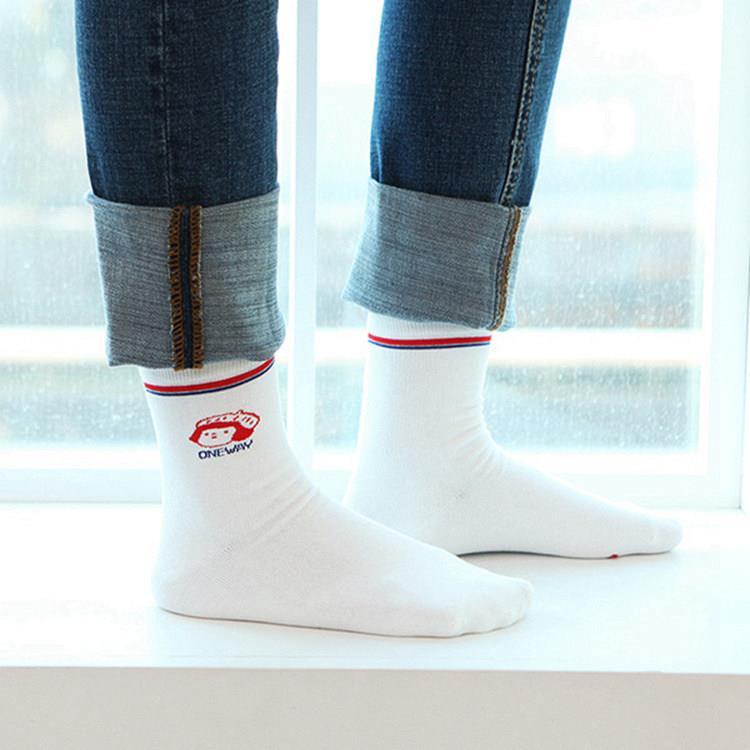 韓國GRACEBELL-女生的中筒襪05.白色珍妮