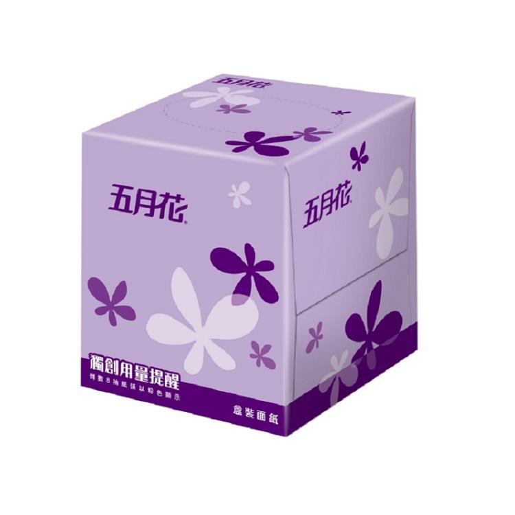 五月花 盒裝面紙-方盒直立式108抽**60盒