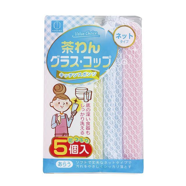 日本-小久保 廚具清潔海綿網狀 5入
