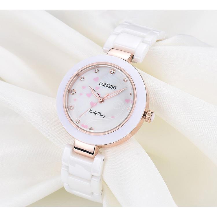【LONGBO】愛心點點科技陶瓷錶