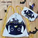 【 Babytiger虎兒寶 】COQENPATE 萬聖節限量組合 黑蝙蝠輕鬆包+畫筆兒的家