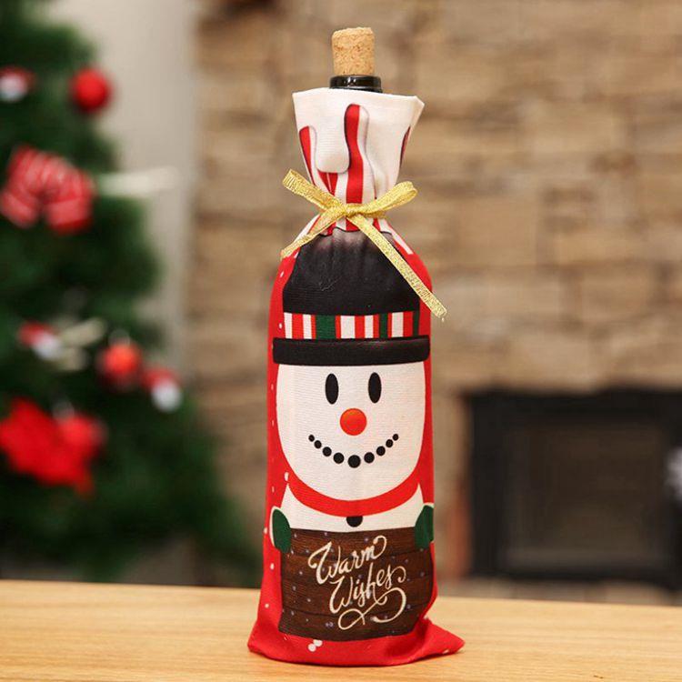 聖誕酒瓶套袋-雪人