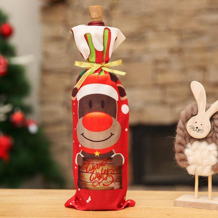 聖誕酒瓶套袋-糜鹿