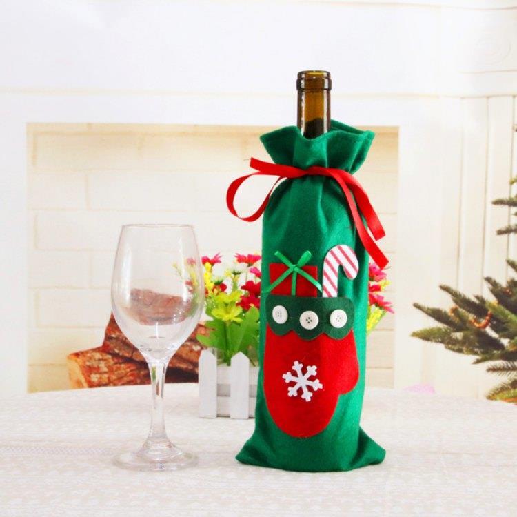 聖誕酒瓶套袋-禮物手套