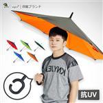 【雙龍牌】新式C型握把。雙層防潑水反向傘。車用 防曬傘 防風傘 站立傘 A5842C