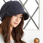 日本 QUEENHEND 抗寒保暖抗UV小顏帽秋冬款9003藍色