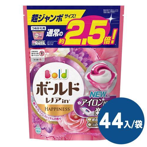 【日本境內 P&G】Bold洗衣凝膠球44入袋(牡丹香氛)*4袋