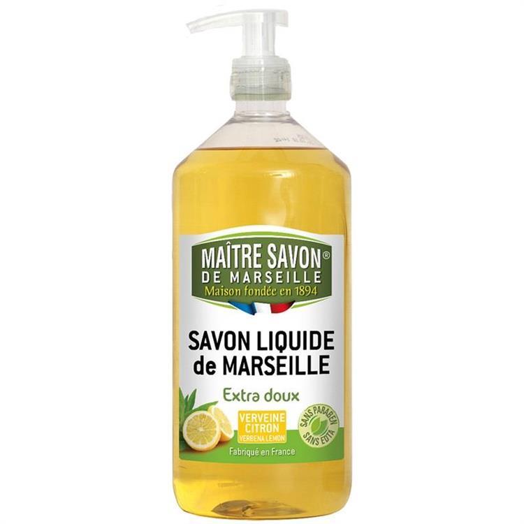 法國玫翠思馬賽液體皂1000ML-檸檬馬鞭草