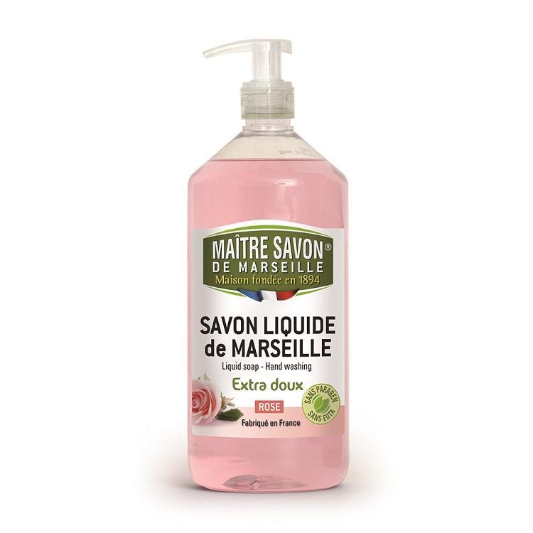 法國玫翠思馬賽液體皂1000ML-玫瑰