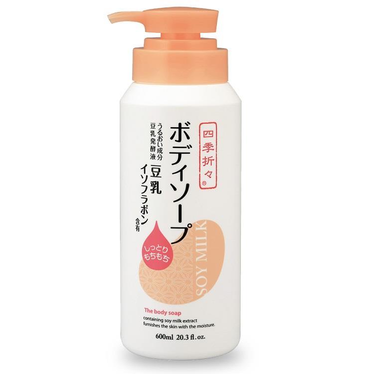 日本熊野豆乳精華保濕沐浴乳 600mlX6入