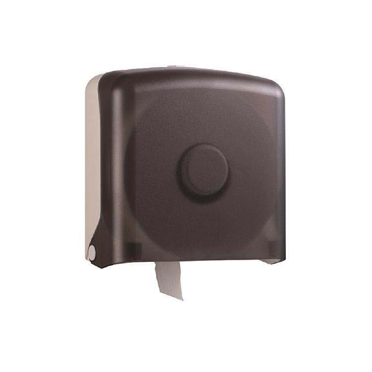 興亞 大捲筒衛生紙架-方型透明黑