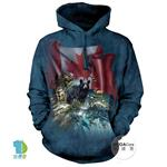 摩達客▶美國The Mountain 加拿大動物群 (預購)中性套頭長袖連帽T恤