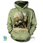 摩達客▶美國The Mountain 黑熊家族 (預購)中性套頭長袖連帽T恤