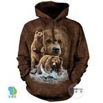 摩達客▶美國The Mountain 尋十棕熊 (預購)中性套頭長袖連帽T恤