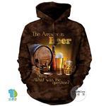 摩達客▶美國The Mountain 啤酒是答案 (預購)中性套頭長袖連帽T恤