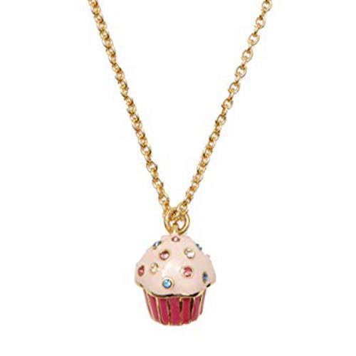 Kate Spade 杯子蛋糕水鑽裝飾項鍊-金色(現貨+預購)