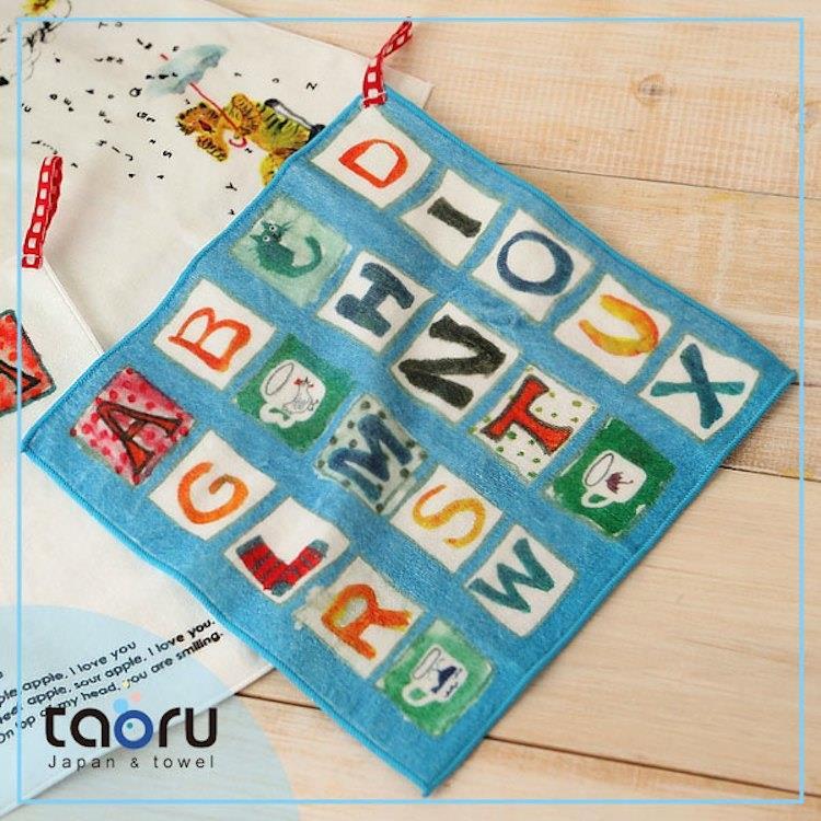 taoru【日本插畫童巾/附掛繩】英文字母