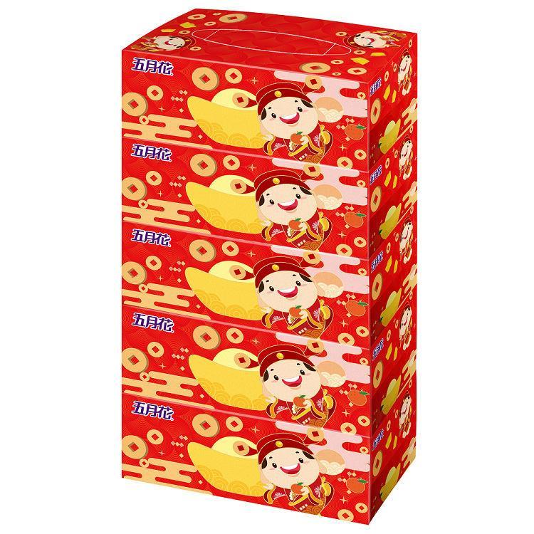 五月花 盒裝面紙-吉利財神150抽**5盒**10串