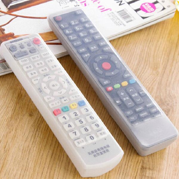 電視音響冷氣矽膠透明遙控器套(空調短)