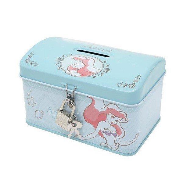 【大國屋】DISNEY公主系列存錢筒附鎖匙(美人魚)