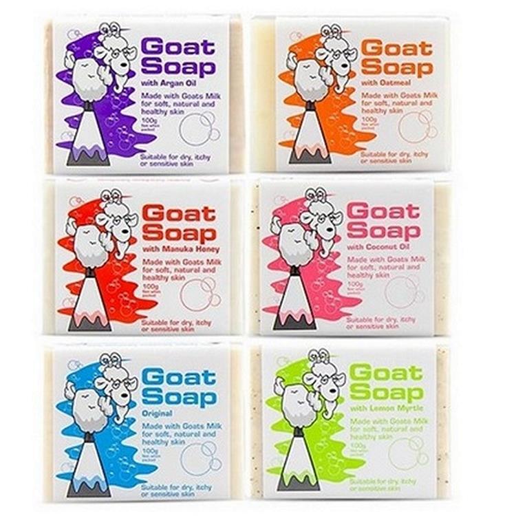 【Goat Soap】澳洲天然手工羊奶皂綜合組_6種風味各1個