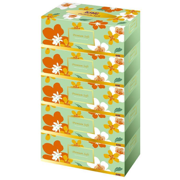 五月花 盒裝面紙180抽**5盒**10袋