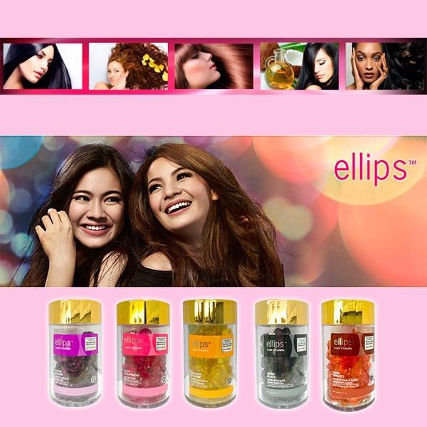 【印尼】ellips順髮油(紫/粉/黑/橘/黃)/3罐入