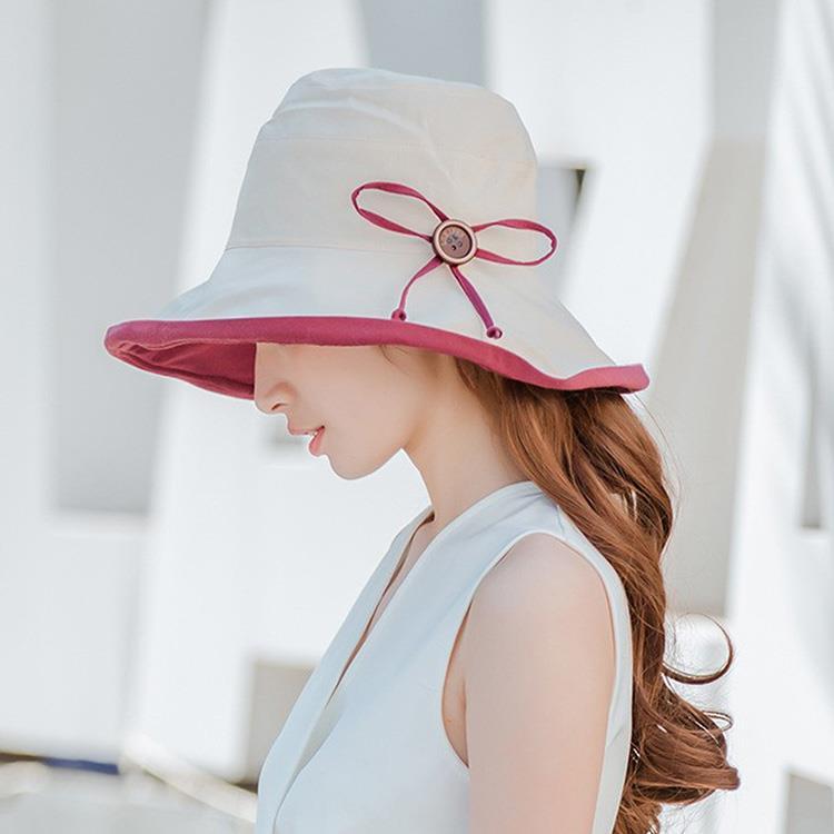 雙面可反戴韓式蝴蝶結漁夫帽(1入)