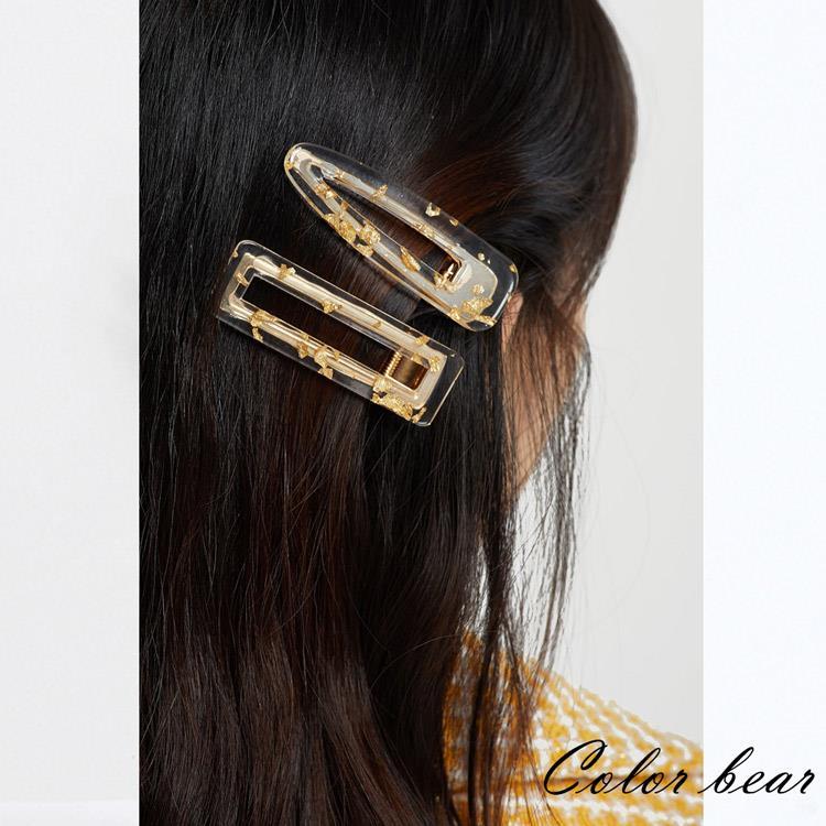 【卡樂熊】日系金色光韻森女系造型髮夾(兩款)