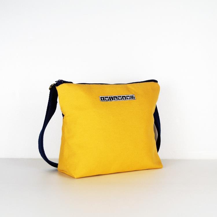 twinwow - 輕量行旅 - 細緻質感斜背包 - 黃藍