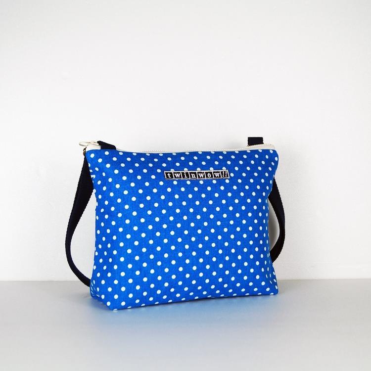 twinwow - 輕量行旅 - 細緻質感斜背包 - 點水藍