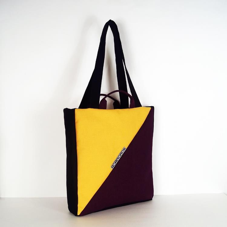 twinwow - 都會雅致 - 細緻質感手提/側肩包 - 紫金黃