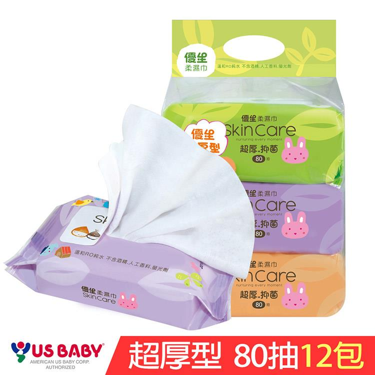【優生】超厚型柔濕巾80抽-12包