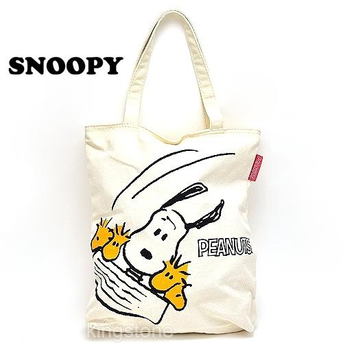 【甩尾SNOOPY】拉鍊式帆布包