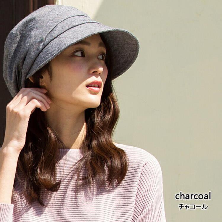 QUEENHEAD  日本抗UV全棉素材小顏防曬帽048灰色