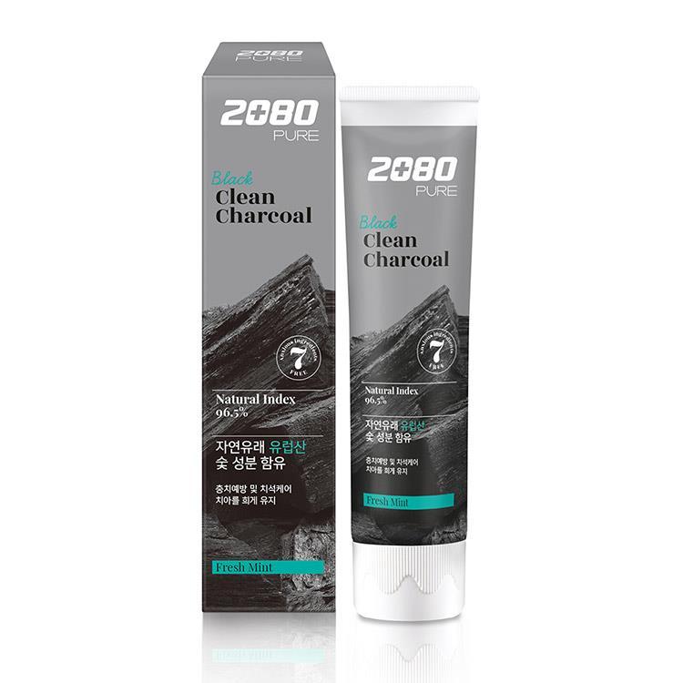 【韓國2080】北歐純椰活性碳淨白牙膏120gX3入