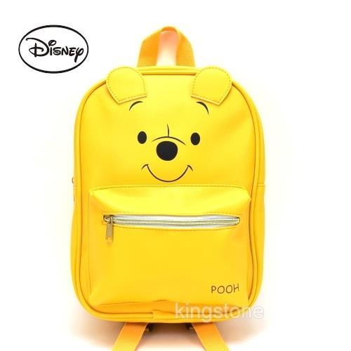 Disney【微笑維尼】PU皮革後背包