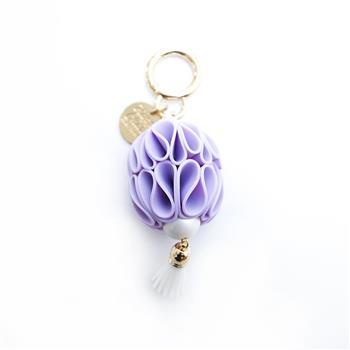 【Candies】Happy Charm 燈籠花鑰匙圈(紫)