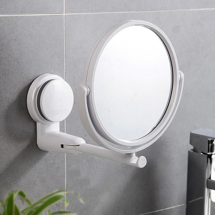 可旋轉摺疊壁掛式化妝鏡(1入)