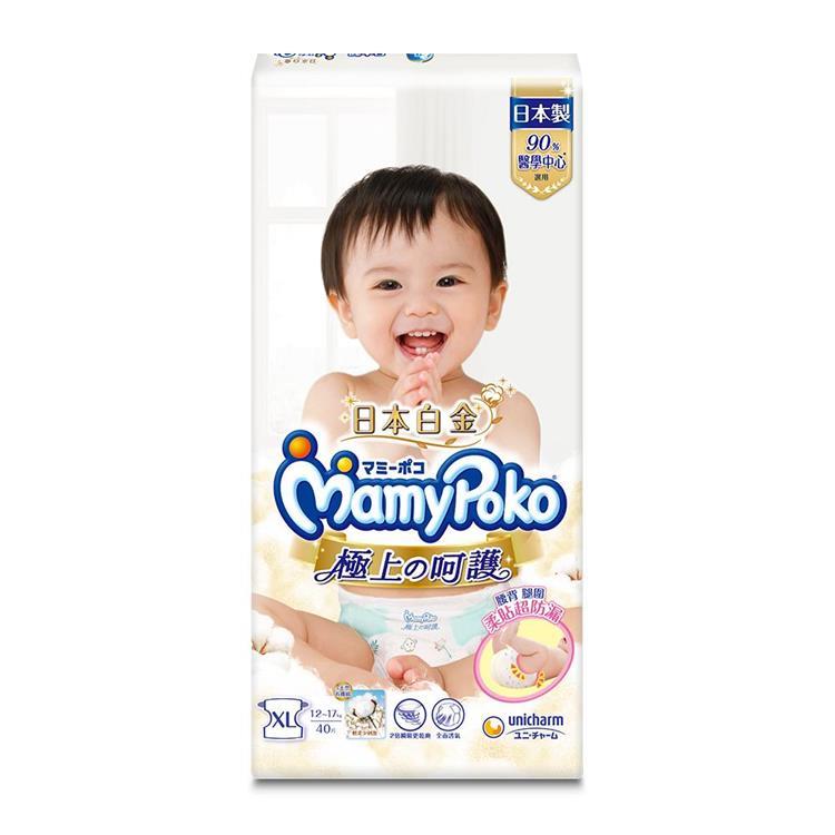滿意寶寶極上の呵護XL 80片/箱(紙尿褲)