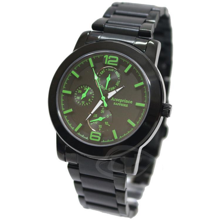 【Arseprince】夜行迷幻精密三眼中性錶-清新綠