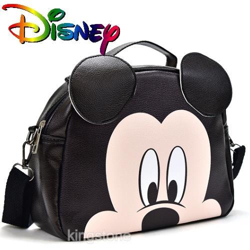 Disney【好奇米奇】D字皮革背包