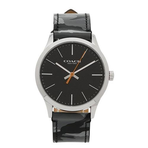 COACH 小牛皮迷彩腕錶-黑色迷彩(現貨+預購)