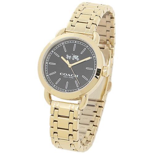 COACH 不鏽鋼鍍金中性腕錶-金