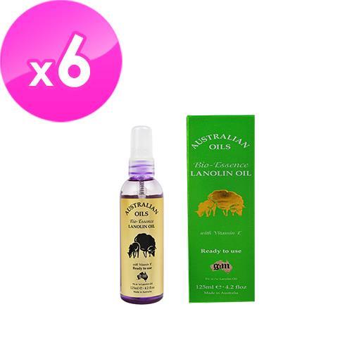 【澳洲G&M】綿羊油生物滋潤精油含維他命E(125ml/瓶-6 入組)