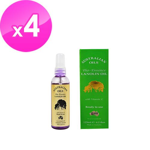 【澳洲G&M】綿羊油生物滋潤精油含維他命E(125ml/瓶-4 入組)