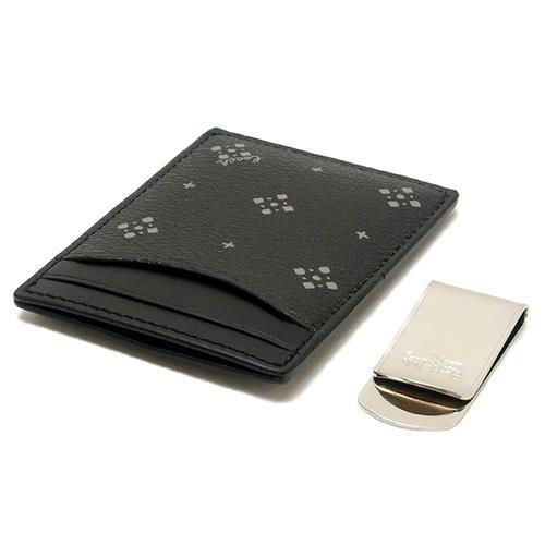 COACH 質感皮革卡夾禮盒組-黑 (現貨+預購)